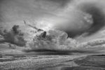 Thunderstorm at Padre Island (B&W)