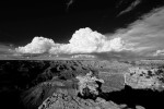 Thunderstorm Over the Grand Canyon (B&W)